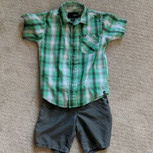 Boys hurley button up outfit